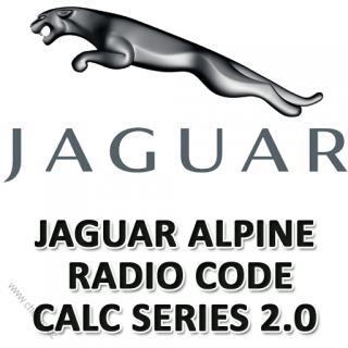JAGUAR RADIO CODE ALPINE SERIES